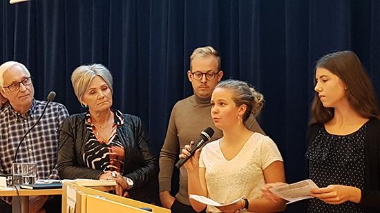 Politikerutfrågning om kommunens klimatmål. Foto Helena Bévengut-Lasson
