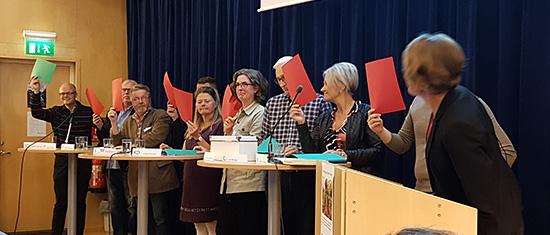 Politikerutfrågning om kommunen klimatmål. Foto Helena Bévengut-Lasson