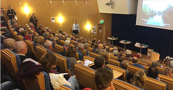 Politikerutfrågning om kommunens klimatmål. Foto Kristin Johansson